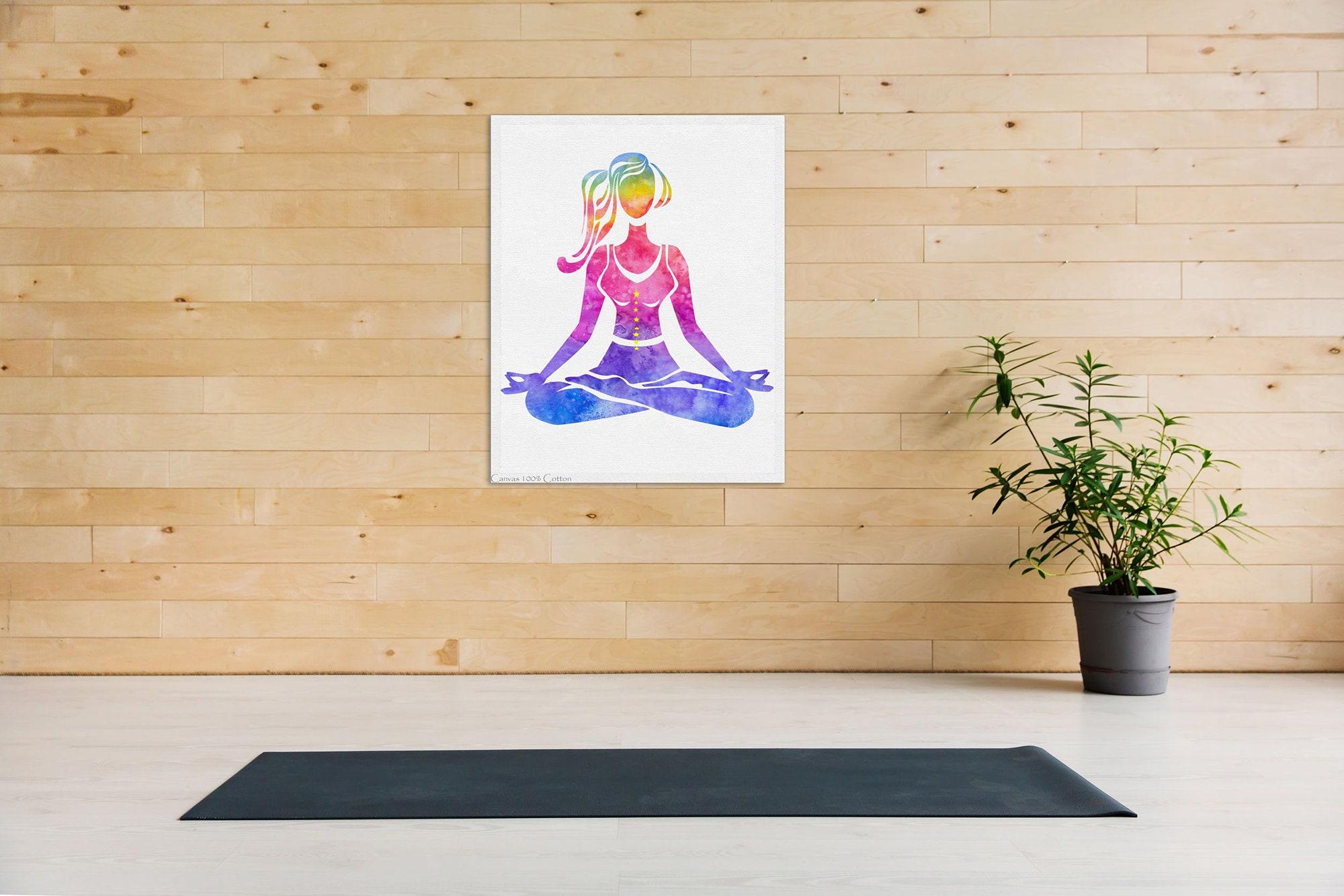 Yoga Print Yoga Art Lotus Pose Yoga Watercolor Art Meditation Gift Bedroom Decor Yoga Painting Yoga Studio Decor Gift Yoga Lover