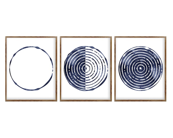 Moon Poster, Mid Century Modern, Boho Wall Art, Bedroom Wall Décor, Set Of 3 Prints, Lunar Phases, Abstract Wall Art