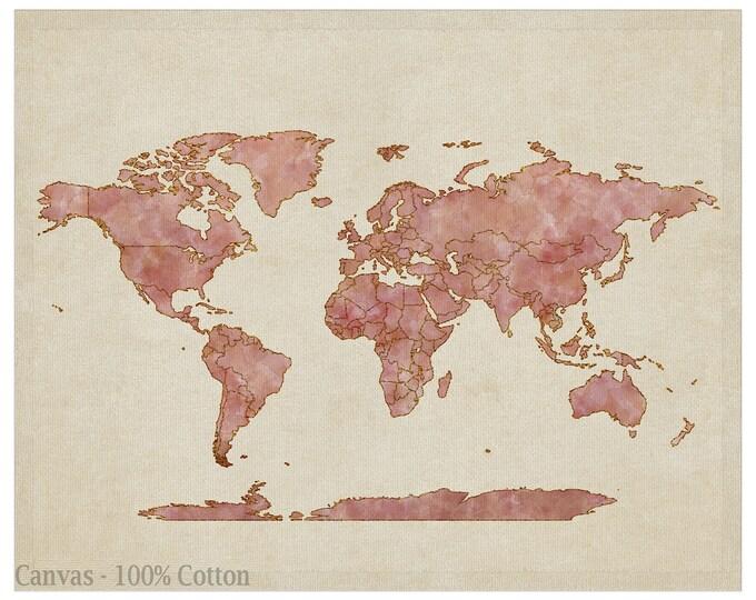Large World Map, World Map, World Map Poster, Wanderlust, World Map Wall Art, World Map Print, Watercolor Travel Map