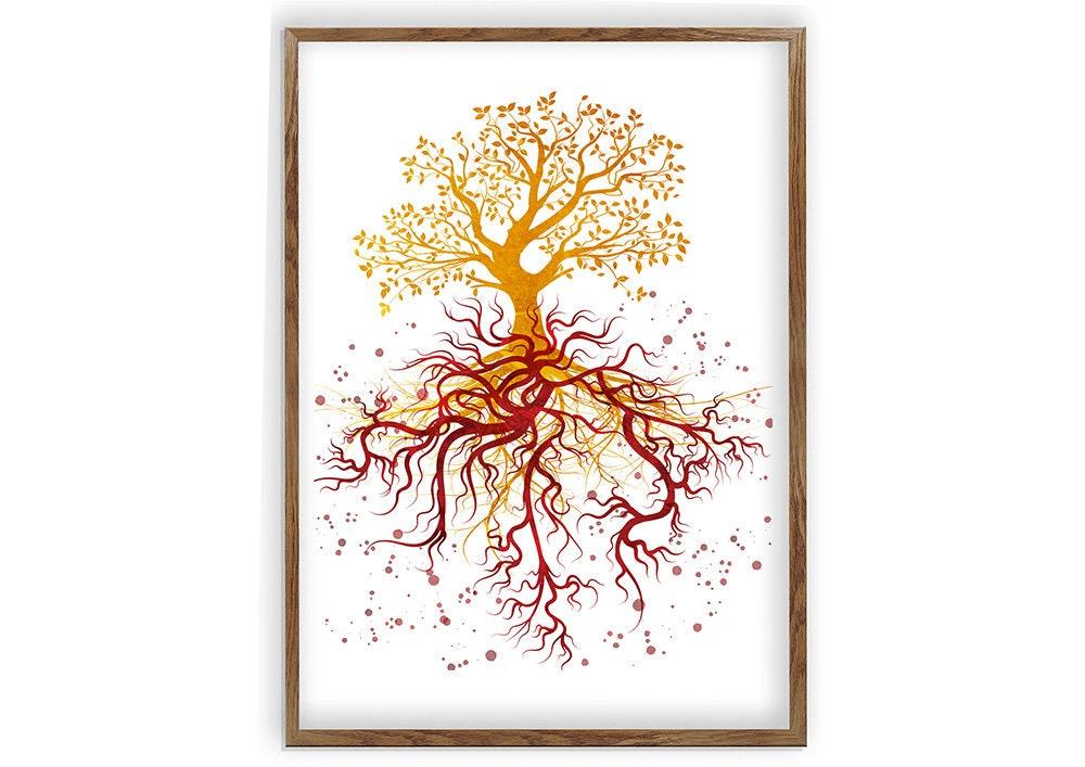 Blood Vessel Painting Abstract Anatomy Art Artery Wall Art