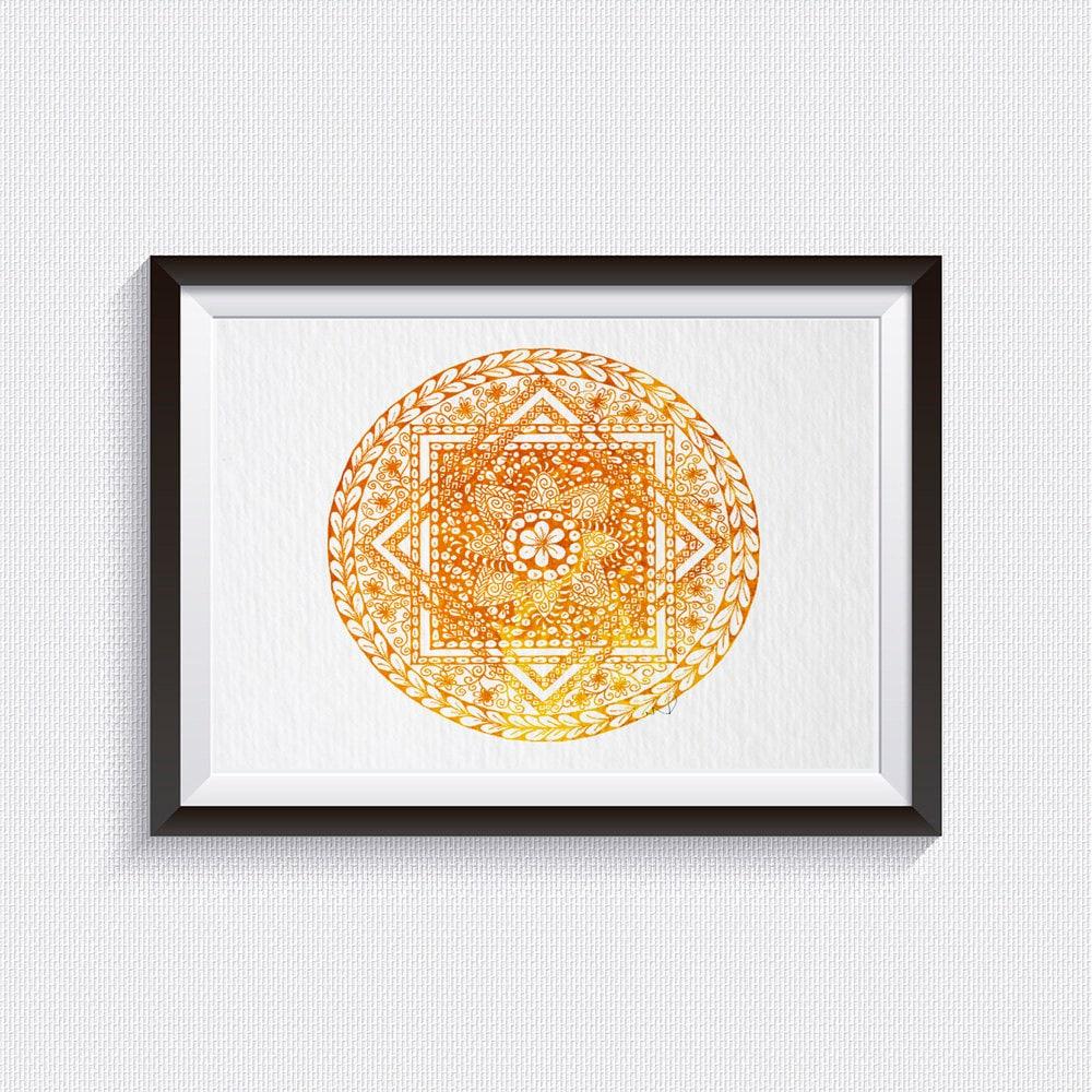 Mandala Print Mandala Art Watercolor mandala Meditation Art Zen Art ...