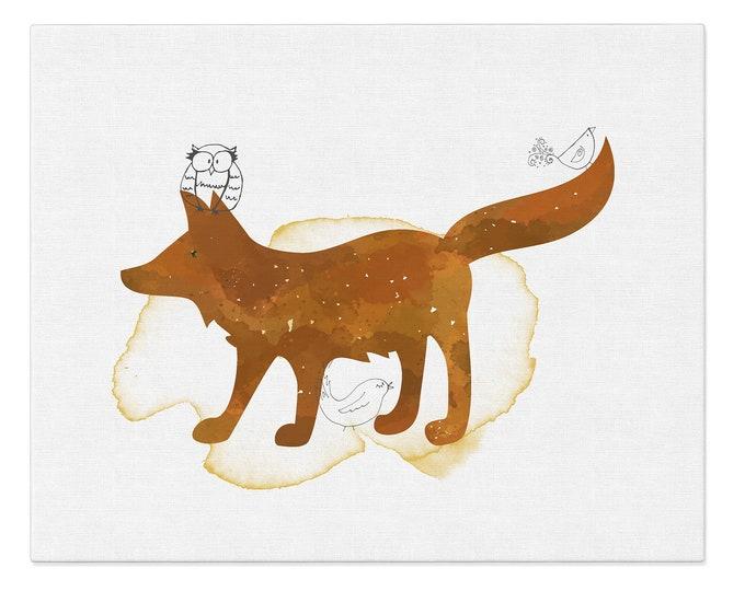 Fox Art Print, Fox Print, Nursery Décor, Animal art, Baby Animal Prints, Nursery Wall Art, Woodland Poster, Kids Room Wall Art