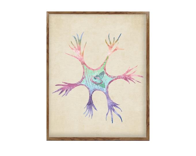 Neuron Art, Anatomy Vintage, Brain Art, Doctor Office Décor, Medical Clinic Décor, Neurology Wall Art, Medical Student Gift
