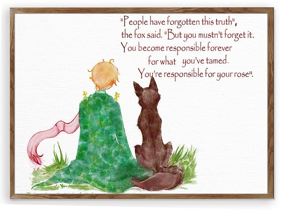 8 Timeless Quotes From The Little Prince: Inspirational Quote Le Petit Prince Fox The Little Prince
