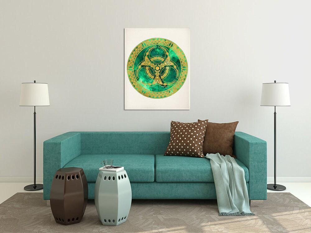 6e41420d8 Spiritual Art Home Decor, Sacred Geometry Mandala, Green Emerald Wall  Decor, Mandala Decor, Mandala Print, Yoga Studio Decor, Buddhist Decor
