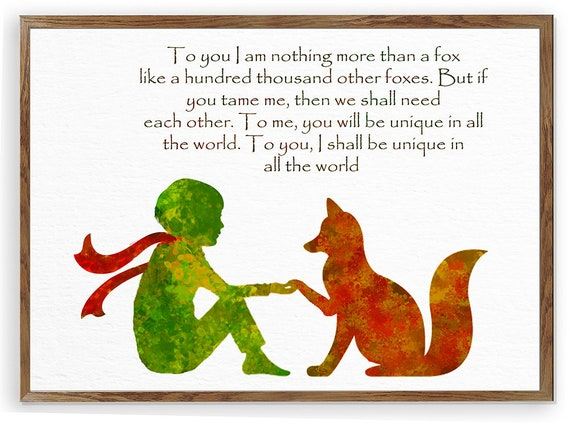 8 Timeless Quotes From The Little Prince: Le Petit Prince Fox Quote The Little Prince Fox Little