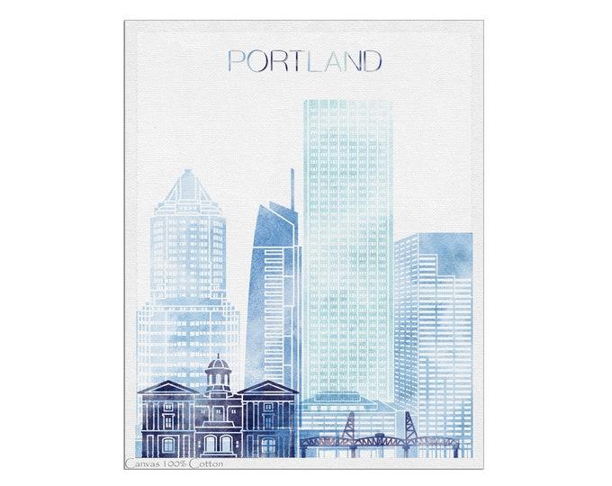 Portland Wall Art, Portland Oregon, Portland OR Art, Portland Skyline, Poster, Home Décor, City Posters, Travel Gift
