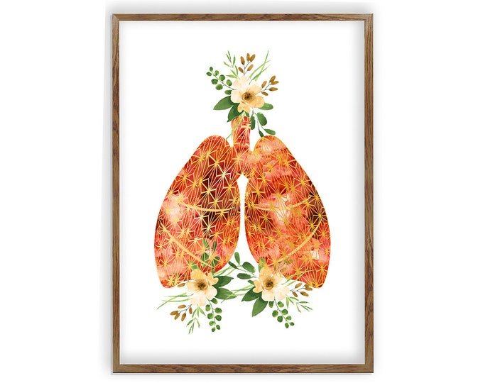Lungs Wall Art, Lungs Art, Human Organs Anatomy, Doctors Office Décor, Gifts for Doctor, Doctor Wall Art, Medicine Poster