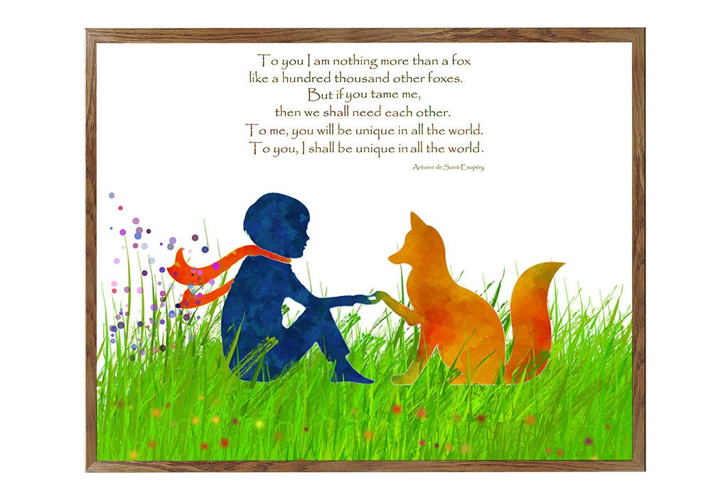 SALE Αrt, little Prince Poster, Little Prince Fox Quote ...