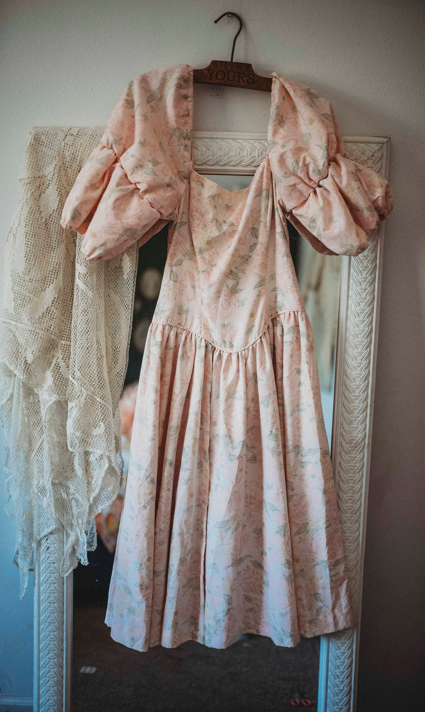 80s Dresses   Casual to Party Dresses Vintage Pretty in Pink Dress  1980S Boho Gown Romance $5.00 AT vintagedancer.com