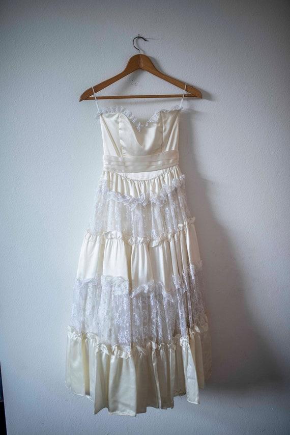 Lacey Gunne Sax || Vintage Prom Dress || 1980s Dre