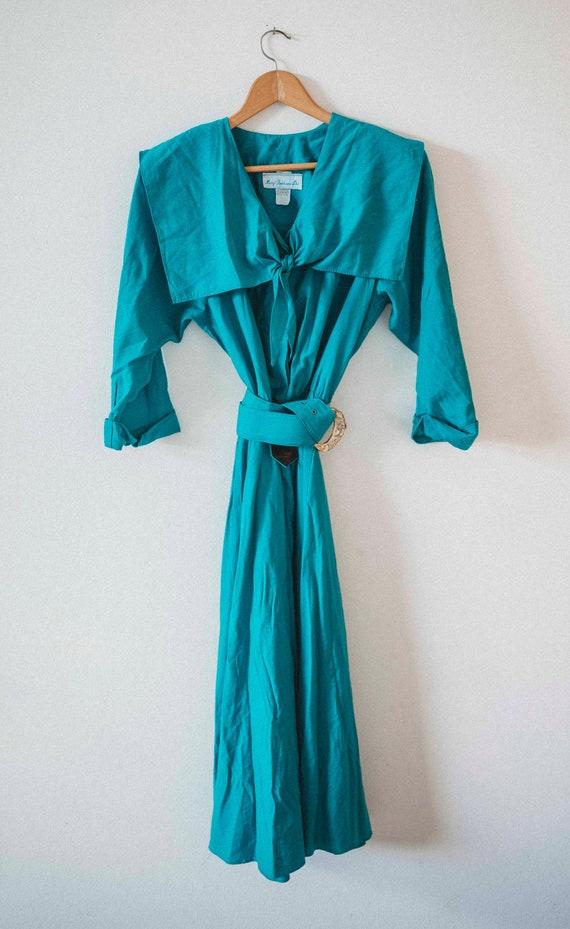1980s Sailor Dress || 1980s 1980s || Vintage Dress