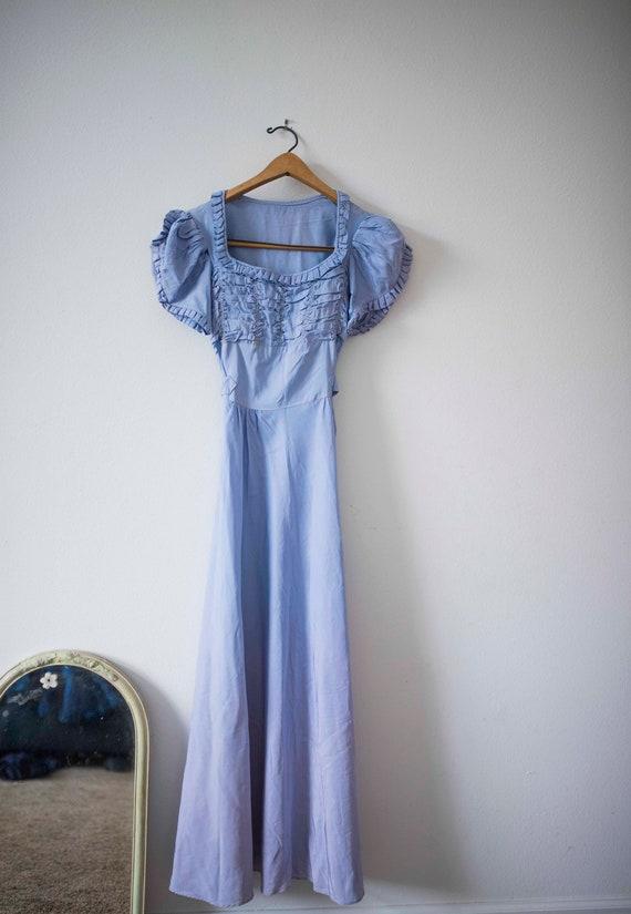 1940s Lavender Ombre Gown || Vintage Prom || Long
