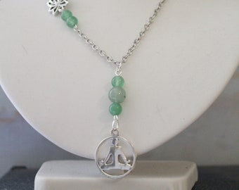 Yoga necklace with natural stones.