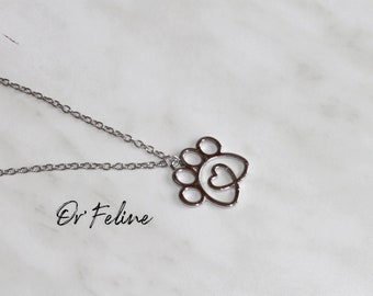 Necklace | Minimalist love | -for lovers of dogs and cats!