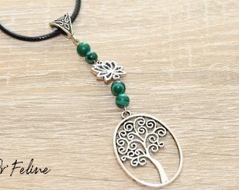 Destockage-adjustable tree of life necklace.
