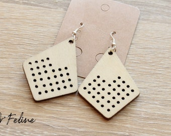 Destockage-nature earrings in wood