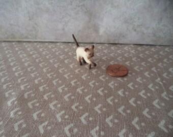 1:12 scale Dollhouse Miniature Siamese cat