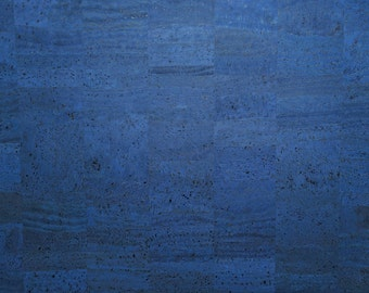 Natural Cork Fabric - Jeans Blue
