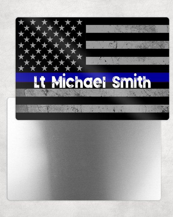 Definition of Integrity Thin Blue Line Law Enforcement 8x12 Aluminum Sign