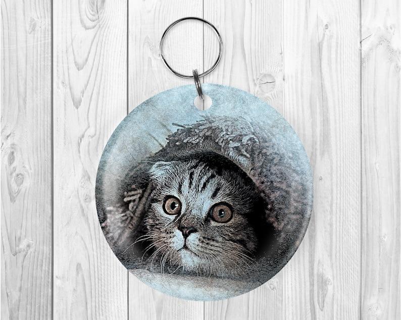 Peeking Kitten Acrylic Key Chains/Available in 3 Styles