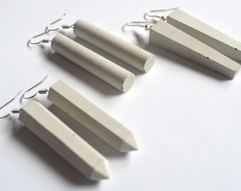 Simple concrete earrings