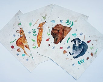 Forest Critters Postcard Set
