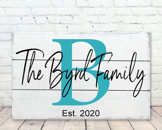 Initial Sign Wood Sign Bridal Shower Gift Wedding Gift Family Name Sign Housewarming Gift Anniversary Gift Wall Decor