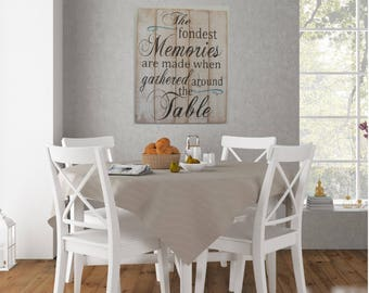 Bon The Fondest Memories Are Made When Gathered Around The Table Pallet Sign Dining  Room Decor Wall Decor Home Decor Rustic Home Decor