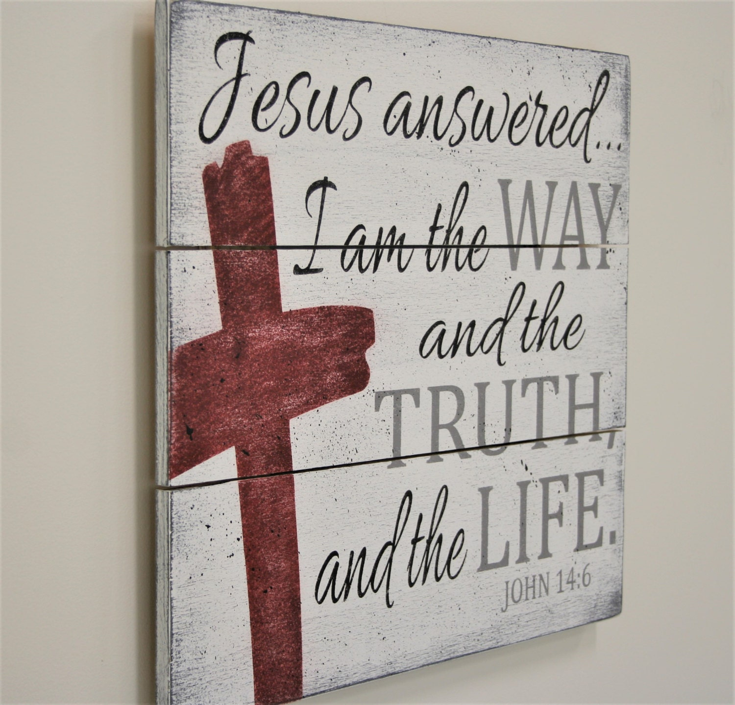 Christian Home Decorations: Wood Pallet Sign Christian Wall Decor Christian Home Decor