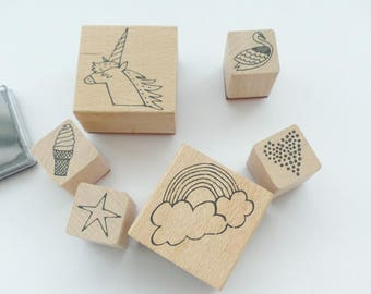 Timbre timbres Unicorn Licorne arc-en-ciel la valeur