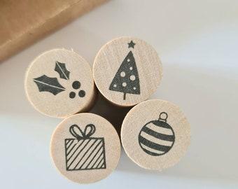 Mini Stamp Set Christmas 4 Symbols