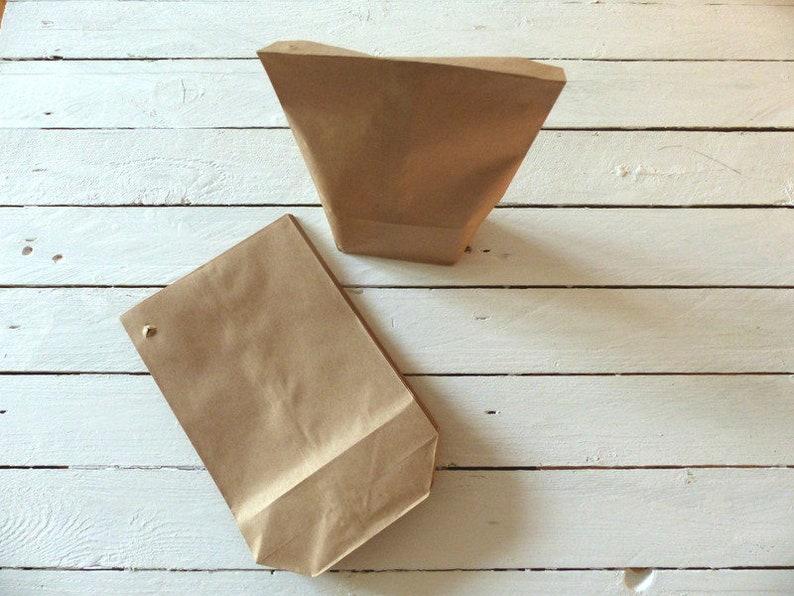25 paper bags block bottom bag stand bag paper image 0