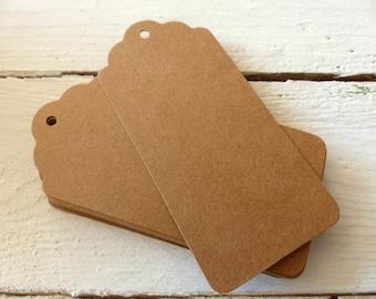 20 kraft paper pendant labels tags big brown