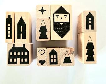 Stamp Set Christmas Houses