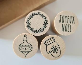 Mini Stamp Set Christmas Winter Joyeux Noel