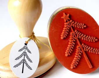 Stamp Fir fir Tree filigree Oval