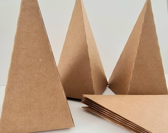 Advent Calendar Boxes Boxes brown Kraft Paper Pyramids for Filling