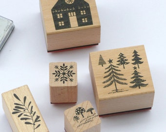 Stamp set winter forest