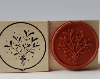 Stamp mistletoe Christmas stamps