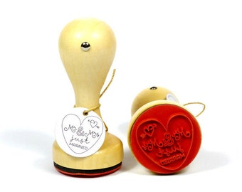 Stamp around Mr. & Mrs. just married
