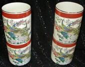 SATSUMA Peacock Porcelain TEA SAKE Cups