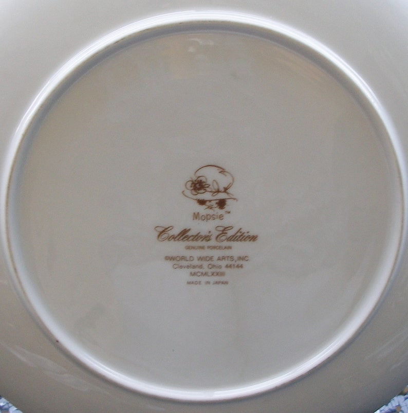Vintage 70s MOPSIE COLLECTORS  PLATE 10 12 inches