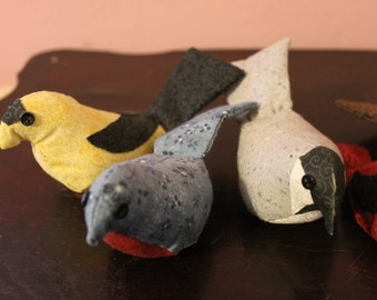 Fabric Birds:  ornaments or decorations