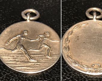 NAAFI (Navy, Army & Air Force Institute) 1935 Silver Medallion Relay Running / Athletics Collectible