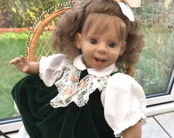 Very Cute Vintage Smiling Little Girl  Doll Panre S.L. Doll Collectible
