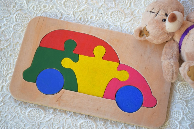 Baby Wooden Toy Puzzle Dino Dinosaur Montessori Toy Dino Wooden Educational Animal Toys Puzzles Baby Shower Gift Organic Kids Game Waldorf Learning Game Sorting Stacking