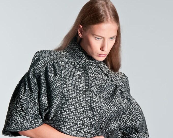 Bolero in Kimonostyle size  XLarge japanese Block pattern