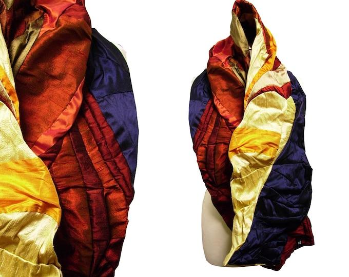 Shawl scarf silk multicolore sun copper night
