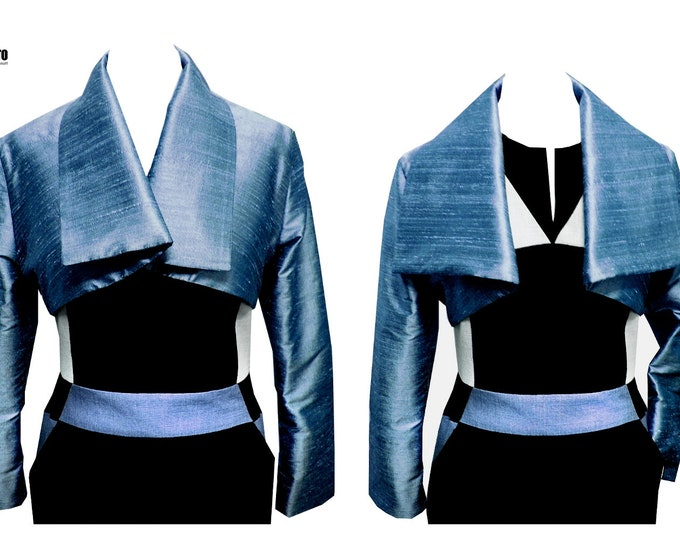 Silk Bolero jacket kimono style